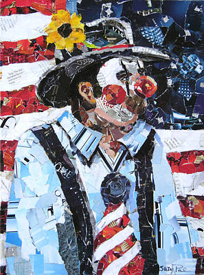 Rodeo Clown Painting - Patriotic Clown by Suzy Pal Powell