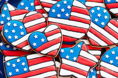 Patriotic Cookies Art Print by Ruth Black