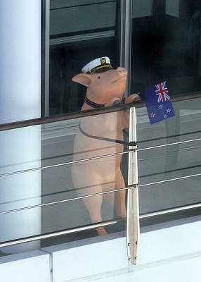 Photograph - Patriotic Pig by Carla Parris