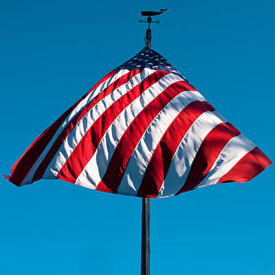 American Flag Photograph - Patriotic Umbrella by David Patterson