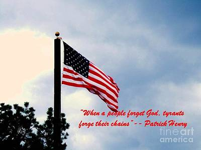 Photograph - Patriotism by Donna Parlow