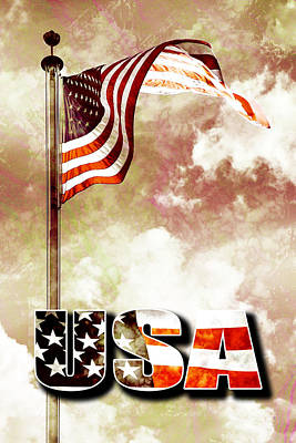 4th July Digital Art - Patriotism The American Way by Phill Petrovic