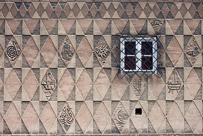 Danzig Photograph - Pattern Design On House Wall by Artur Bogacki