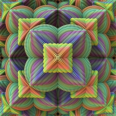 Mandelbulb Digital Art - Pattern Pyramid by Lyle Hatch