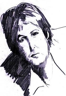 Mccartney Drawing - Paul  by David Ritsema