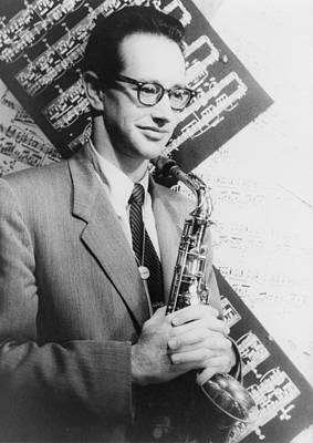 Saxophone Photograph - Paul Desmond 1924-1977, Born Paul Emil by Everett