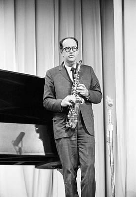 Saxophone Photograph - Paul Desmond Dave Brubeck Quartet 1967 by Jan W Faul