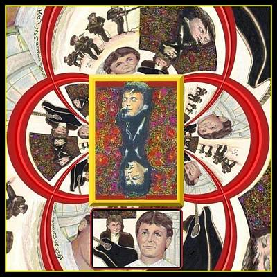 Print featuring the mixed media Paul Mccartney Beatles  by Ray Tapajna