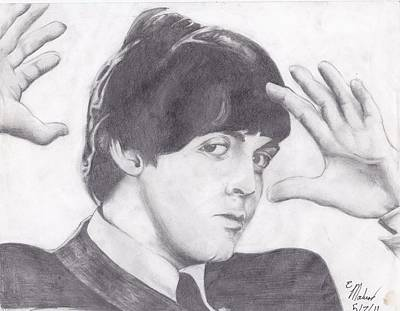 Beatlemania Drawing - Paul Mccartney by Ethan Morehead
