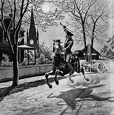 Paul Revere, Midnight Ride, April 18th Art Print by Photo Researchers