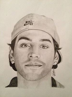 Drawing - Paul Rodriguez by Angelee Borrero