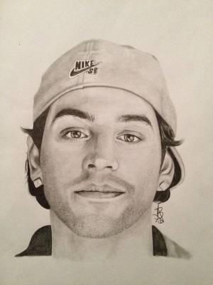 Drawing - Paul Rodriguez by Angelee Borrero