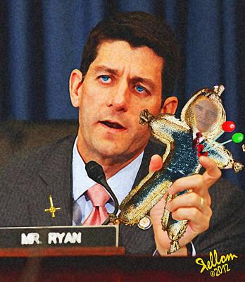 Barrack Obama Digital Art - Paul Ryan Voodoo Politics by Che Rellom