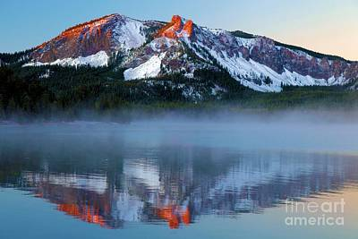 Photograph - Paulina Peak Reflections by Adam Jewell