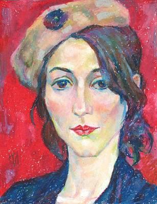 Pastel Painting - Pauline Rousseau by Leonid Petrushin