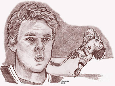 Drawing - Pavel Bure- Russian Rocket by Chris  DelVecchio