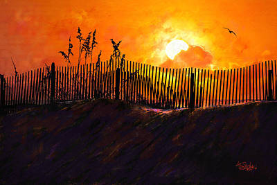 Pawleys Island Sunrise Art Print