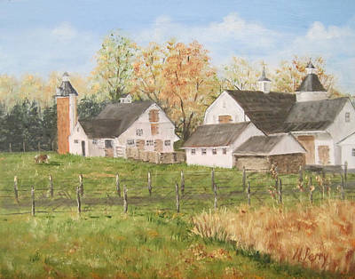 Painting - Paxson's Farm by Margie Perry