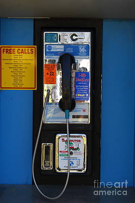 Payphone Photograph - Pay Phone . 7d15934 by Wingsdomain Art and Photography