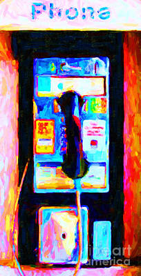 Wide Size Photograph - Pay Phone . V2 by Wingsdomain Art and Photography