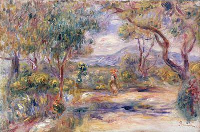 Azur Painting - Paysage A Cannes  by Pierre Auguste Renoir