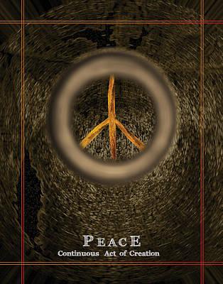 William Penn Digital Art - Peace - Inspirational by Artful Whiz