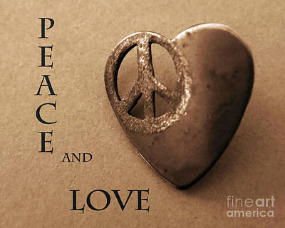 Digital Art - Peace And Love by Patricia Januszkiewicz