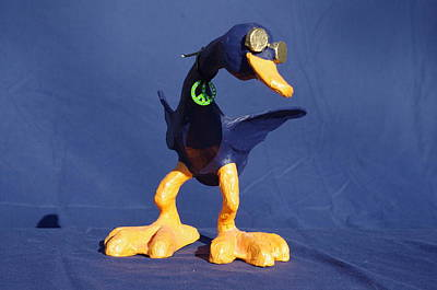 Sculpture - Peace Duck by Rick Ahlvers