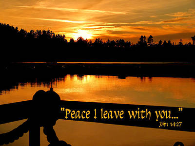 Photograph - Peace I Leave With You by Cindy Wright