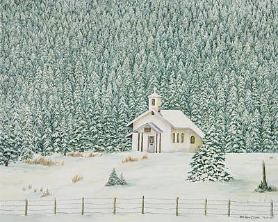 Peace In The Mountains Art Print by Mary Ann King