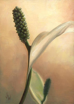 Art Print featuring the painting Peace Lily by Joe Winkler