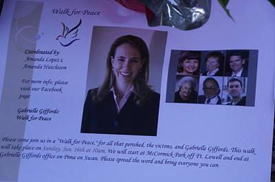 Gabby Giffords Photograph - Peace Walk For Gabby by Jayne Kerr