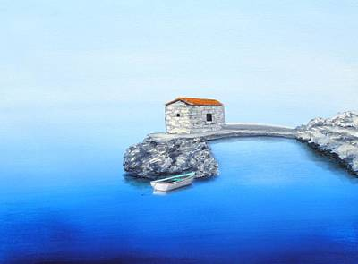 Peaceful Adriatic  Art Print by Larry Cirigliano