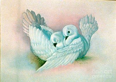 Painting - Peaceful Doves by Geri Jones