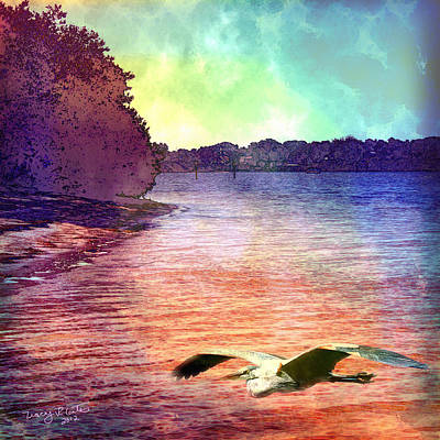 Digital Art - Peaceful Morning by Tracey R Gates