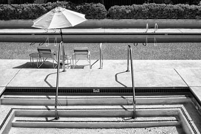 Photograph - Peaceful Oasis Bw Palm Springs by William Dey