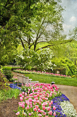Peaceful Spring Park Art Print