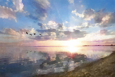 Digital Art - Peaceful Sunrise by Francesa Miller