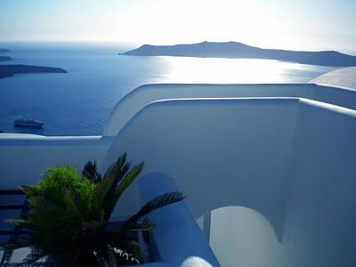 Peaceful Sunset Santorini Art Print