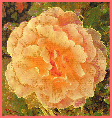 Art Print featuring the painting Peach Begonia by Richard James Digance