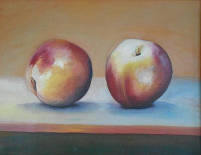 Painting - Peaches 2 by Robert Foss