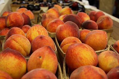 Peaches Ala Mollys Market Art Print by Theresa Johnson