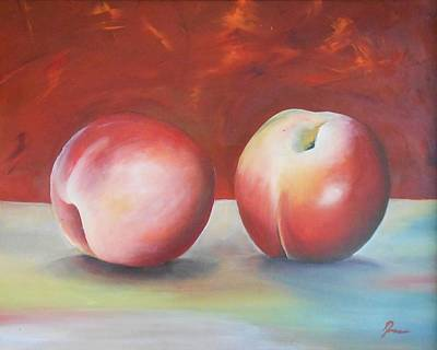 Painting - Peaches by Robert Foss