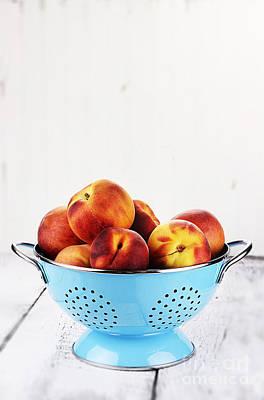 Peaches Print by Stephanie Frey
