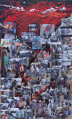 Belfast Mixed Media - Peacline by Brian Rock