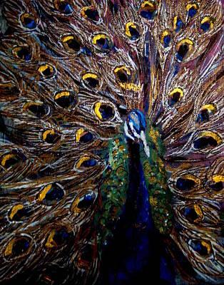 Art Print featuring the painting Peacock 1 by Amanda Dinan