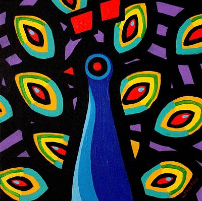 Peacock Poster Painting - Peacock 10 by John  Nolan
