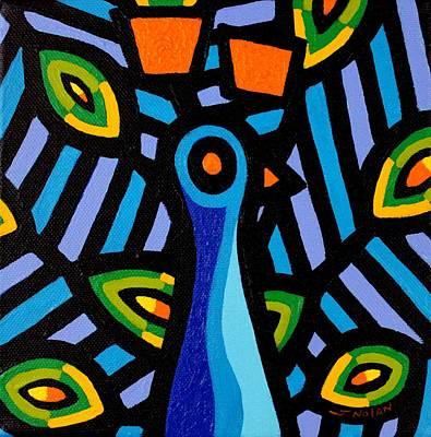 Peacock Poster Painting - Peacock 8 by John  Nolan