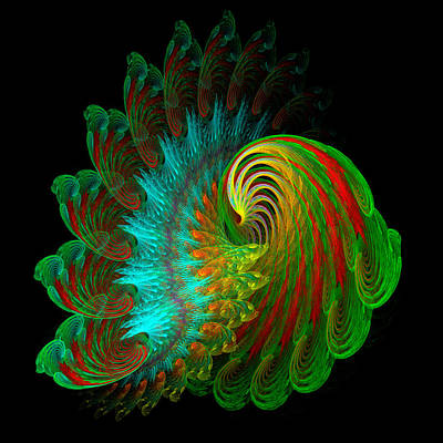 Digital Art - Peacock by Rick Chapman
