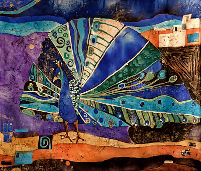 Peacock Art Print by Sandra Kern